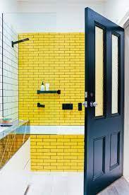 Yellow Subway Tiles Bathroom Yellow Bathroom Tiles Yellow Bathrooms Yellow Tile