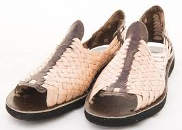 men s open open open toe huarache sandals brown natural striped mexican leather huaraches 193729
