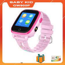 Đồng Hồ Thông Minh Trẻ Em Gọi Video Call BabyKid GW900P Chống Nước IP67,  Định Vị WiFi/GPS/LBS Chính xác từng MÉT (Màu Hồng)
