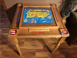 Domino Table Puerto Rico Design Puerto Rico Flag Domino Table Mvp With The Map