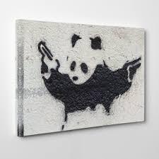 image is loading premium canvas print wall art banksy panda s