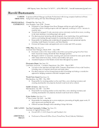 Resume Objective Samples Retailnager Resume Objective Operations And Sales Template 89