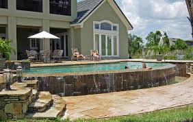 backyard salt water pool. Plain Water Inside Backyard Salt Water Pool A