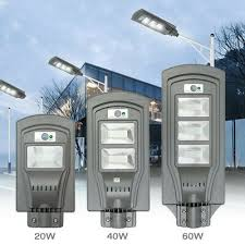 Maerex 40/<b>60W LED</b> Solar Powered Wall Street Light PIR Motion ...