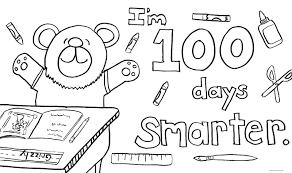Small Picture 100th Day Of School Coloring Page Coloring Pages Online