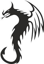 переводная временная татуировка тату дракон неоновая тату