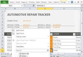 Home Maintenance Tracker Maintenance Tracker Excel