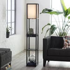 astonishing floor lamp with shelves as lights system and organizer nu decoration inspiring home interior ideas