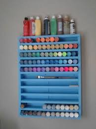 Acrylic Paint Storage Using Spice Racks | Acrylic paint storage, Paint  storage and Acrylics