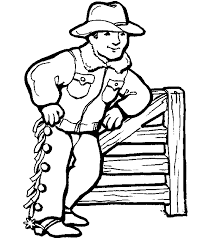 Small Picture Cowboy 2 coloring page