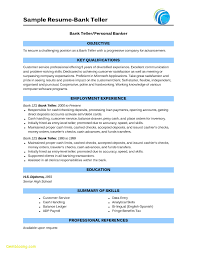 Bank Teller Resume Objective Fresh How To Do A Job Resume Awesome