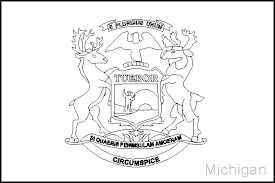Small Picture Michigan State Flag Coloring Pages USA for Kids