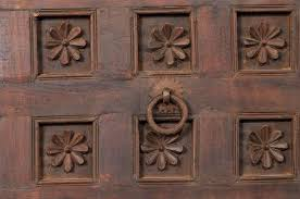 large 19th century carved wood ceiling