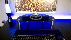 vonhaus glass pc monitor stand