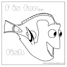 F Is For Fish Coloring Page Letter F Coloring Page Fish Fish
