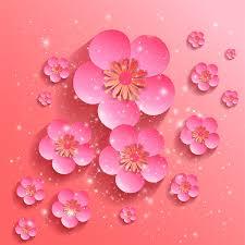 Sakura Flower Background Free Vector In Adobe Illustrator Ai