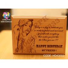 a personalized wooden photo frame hd43003