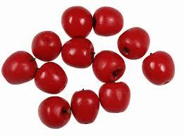 Mini äpfel 1 Cm Rot 12 Stück Deko Obst Deko äpfel