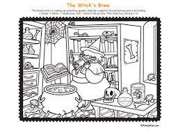 Small Picture Hidden Picture Halloween Coloring Pages Festival Collections