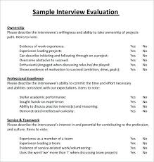 Evaluation Report Sample Interview Basic Concept Plus Performance ...