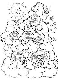 Small Picture Care Bears Coloring Pages 4 Coloring Kids
