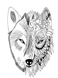 coloring pages tattoo wolf krissy tattoos adult coloring pages