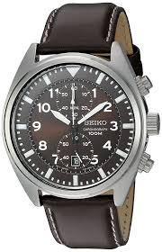 com seiko men s snn241 stainless steel watch with brown leather band seiko watches