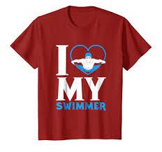 Swim Championship T Shirt Designs Amazon Com I Love My Swimmer High School Diver Team