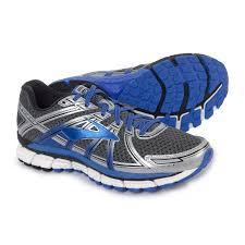 brooks adrenaline gts 17 running shoes for men in anthracite electric brooks blue
