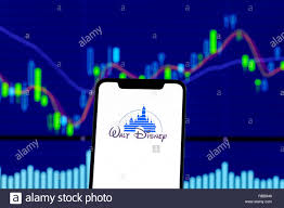 Disney Conglomerate Chart Walt Disney Logo Is Seen On An Smartphone Over Stock Chart