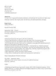 Resume For Physical Therapist Pt Assistant Sample Resume Ha