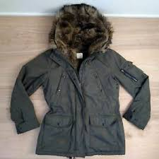 S13 Coat Size Chart Details About S13 Nyc Adirondack Faux Fur Lined Coat Parka Size Xl Olive Military Green