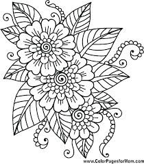 Printable Coloring Pages Of Flowers And Butterflies Free Printable Coloring Pages Of Flowers Flower Grower Com