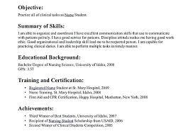Sample Nursing Student Resume Delectable Sample Resume For Nurses Newly Graduated Fruityidea Resume