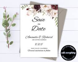 save the date template free download save the date invite etsy