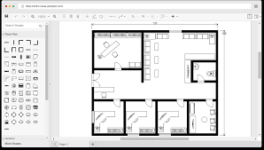 office floor plan template. floor plan example: office template l