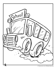 Small Picture School Bus Coloring Page Woo Jr Kids Activities
