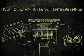 how to be an internet entrepreneur from diploma to laptop to  how to be an internet entrepreneur from diploma to laptop to cash stock photo