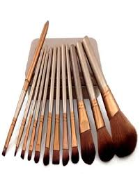 pack of 12 makeup brushes in steel box