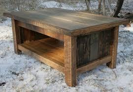 image of 2016 rustic wood coffee table