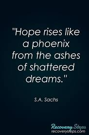 Inspirational Quotes About Hopes And Dreams Best Of Inspirational QuotesHope Rises Like A Phoenix From The Ashes Of