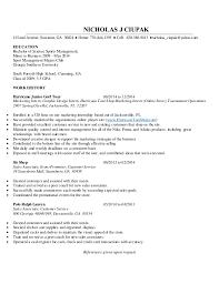 Sports Management Cover Letters Nicholas J Ciupak Resume Without Cover Letter