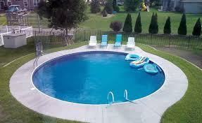 Modern Round Inground Pool Designs With Landscape Pool