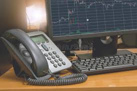 Ip Telephone With Computer Keyboard And Monitor Display