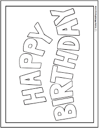 55 Birthday Coloring Pages Customizable Pdf Sunday And Weseday