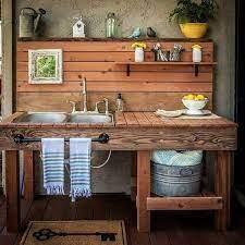 beautiful garden potting bench plans