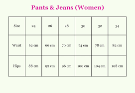 Canada Pants Size Chart Desigual Size Guide Canada Fun Fashion