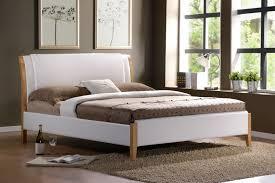 wooden bed furniture design. Bedroom:Minimalist Japanese Bedroom Furniture Design With White Bedding Sets Also Grey Fur Carpet On Wooden Bed