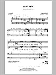 rent seasons of love sheet music seasons of love from rent sheet music direct