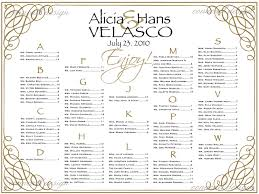 Poster Seating Charts For Wedding Receptions In Free Wedding Reception Seating Chart Template 17